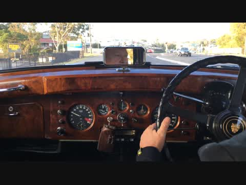 A quick run home in the 1960 MkIX Jaguar.