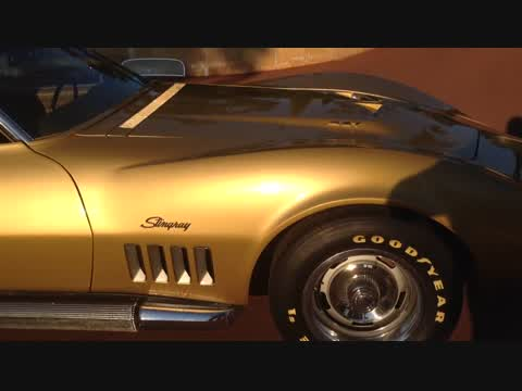 The Sound of a 69 Corvette L71 427 Big Block Through Factory Side Pipes
