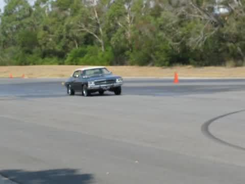 Monaro LS 350 under full acceleration